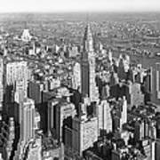View From Empire State Bldg. Poster