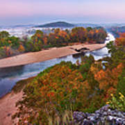 View From Greens Cave Bluff Poster
