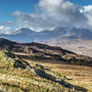 View from Moel Siabod, Snowdonia, North Wales Poster