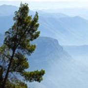 View From Montserrat, Spain Poster