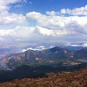 View From Pikes Peak 1964 Poster