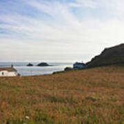 View From St Helen's Oratory Cape Cornwall Poster