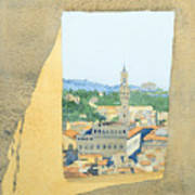 View From The Duomo In Florence Poster