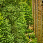 View From The Lllangollen Aqueduct In Wales Poster