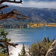 View From The Top Of June Lake Poster