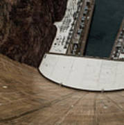 View From Top Of Hoover Dam Poster