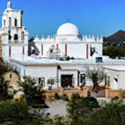 View From Tthe Hill - San Xavier Mission - Tucson Arizona Poster