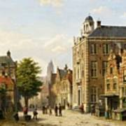 View Of A Dutch Street In Summer Poster