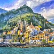 View Of Amalfi Poster