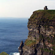 View Of Aran Islands And Cliffs Of Moher County Clare Ireland  Poster