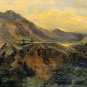 View Of Bagneres De Luchon. Pyrenees Poster
