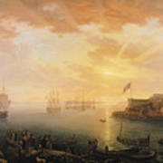 View Of Brest Harbor Poster
