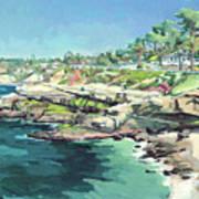 View Of Brockton Villa, La Jolla, California Poster