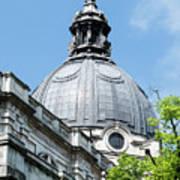 View Of Brompton Oratory Dome Kensington London England Poster