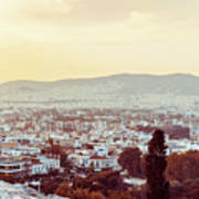 view of Buildings around Athens city, Greece Poster