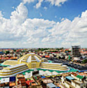 View Of Central Market Landmark In Phnom Penh City Cambodia Poster