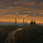 View Of Dresden At Sunset  Poster