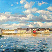 View Of Galway Harbour Poster
