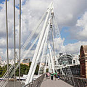 View Of Golden Jubilee Bridge, Thames Poster