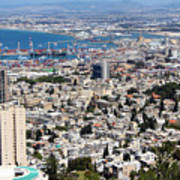 View Of Haifa Poster