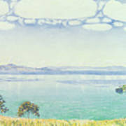 View Of Lake Leman From Chexbres Poster