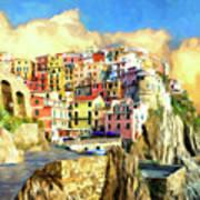 View Of Manarola Cinque Terre Poster