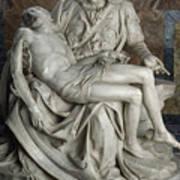 View Of Michelangelos Famous Sculpture Poster by James L. Stanfield