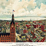View Of Milwaukee 1898 Poster