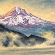 View Of Mt Hood Poster