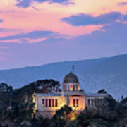 View Of National Observatory Of Athens In The Evening, Athens, G Poster