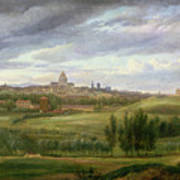 View Of Paris From Butte Aux Cailles Poster