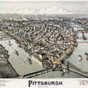 View Of Pittsburgh, 1902 Poster