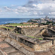View Of San Juan From The Top Of Fort San Cristoba Poster