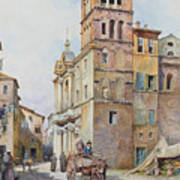 View Of Santa Maria In Monticelli, Rome  Poster