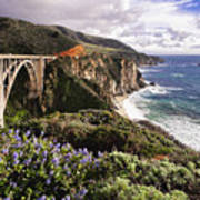 View Of The Bixby Creek Bridge Big Sur California Poster