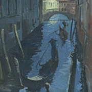 View Of The Bridge Of Sighs At Night. Poster