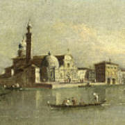 View Of The Isola Di San Michele In Venice Poster