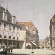 View Of The Market Horn  With The Statue Of Jan Pietersz Coen And The Waag Anonymous  1907   1930 Poster