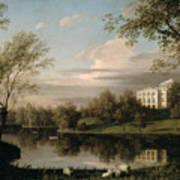 View Of The Pavlovsk Palace Poster by Carl Ferdinand von Kugelgen