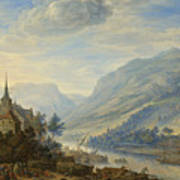 View Of The Rhine River Near Reineck Poster