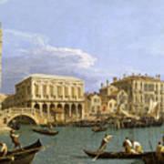 View Of The Riva Degli Schiavoni. Venice Poster