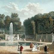 View Of The Tuileries Garden Poster