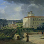 View Of The Villa Medici In Rome Poster