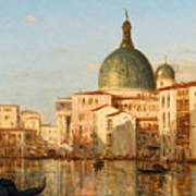 View Of Venice With San Simeone Piccolo Poster