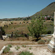 View Of Virginia City Nv From The Final Resting Place Poster