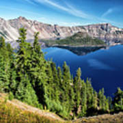 View Of Wizard Island Crater Lake Poster