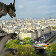 View On Paris City Poster