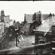 View Over Rooftops In Amsterdam  George Hendrik Breitner  C  1890    . 1910 Poster