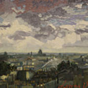 View Over Rooftops Of Paris Poster