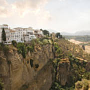 View Over The Tajo Gorge Ronda Home Of Bullfighting Poster